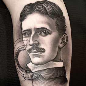 tattoo new traditional tesla .png